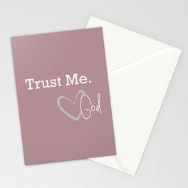 Trust Me, Love God Stationery Cards