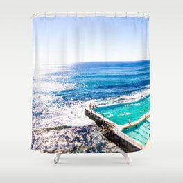 Bondi Icy Dip Shower Curtain