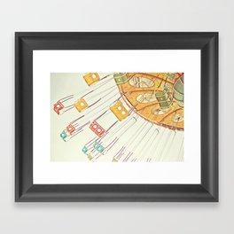 Sea Swings Framed Art Print