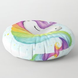 Rainbow Unicorn Floor Pillow