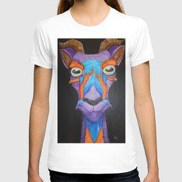 Inquisitive Colorful Goat T-shirt