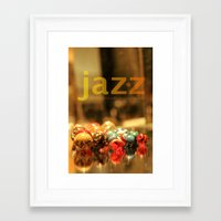 jazz Framed Art Prints featuring Jazz ! by teddynash