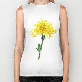one yellow chrysanthemum Biker Tank