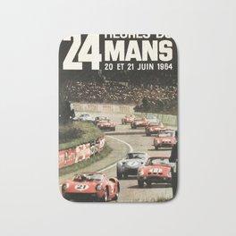 Le Mans poster, 1964, 24hs Le Mans, original vintage poster Bath Mat