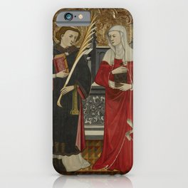 Pere Vall - St Stephen and St Mary Magdalene iPhone Case