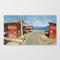 chile Canvas Prints featuring Valparaiso, Chile by Studio Sienna