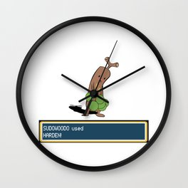 Rock Hard Wall Clock