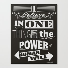 Human Will Canvas Print