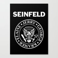 seinfeld Canvas Prints featuring Seinfeld by WITHDRAWN