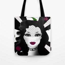 Halloween ,gothic girl illustration Tote Bag