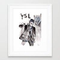 ysl Framed Art Prints featuring YSL by Mariucalin