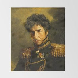 Bob Dylan - replaceface Throw Blanket