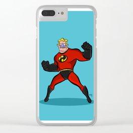 Mr. Mermaid Man Clear iPhone Case