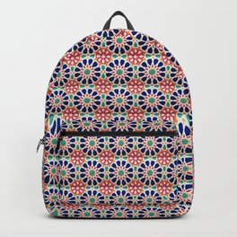 -A21- Traditional Colored Moroccan Mandala Artwork. Backpack