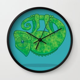 Magical Chameleon Wall Clock
