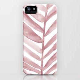 Pink Palm Leaf Crop iPhone Case