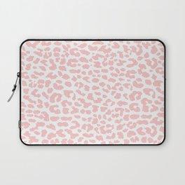Pale Coral Leopard Laptop Sleeve