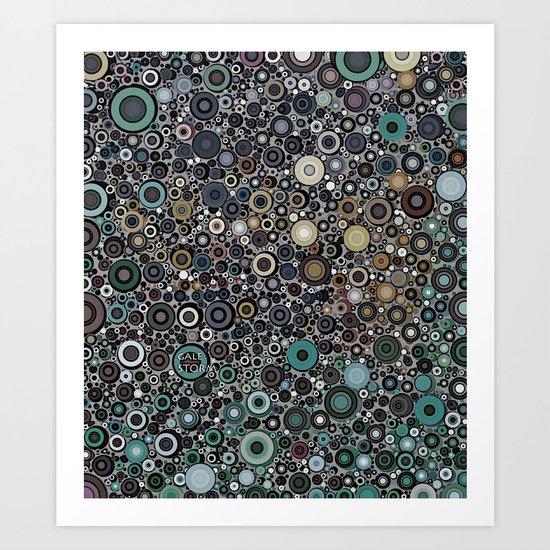 :: Touchdown on a Rainy Day :: Art Print