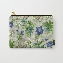 Alpine Flowers - Gentian, Edelweiss Carry-All Pouch