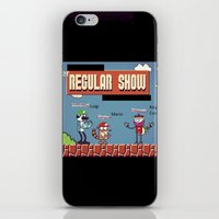 regular show iPhone & iPod Skins featuring Super Regular Show Bros. by Poetic_Hoopa