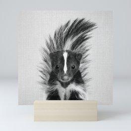 Skunk - Black & White Mini Art Print