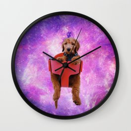 Galaxy Golden Pup Wall Clock