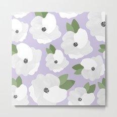 Lavender Floral Pattern Metal Print