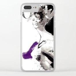 Vogue Fashion Illustration #2 Clear iPhone Case