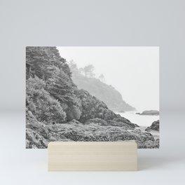 Washington Coast Mist Fog Shoreline Beach Pacific Ocean Long Beach Beards Hollow Forest Northwest Mini Art Print