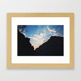 Grand Canyon Sunset Framed Art Print