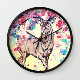 Spring Stag Wall Clock