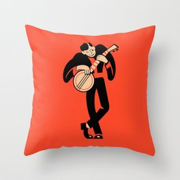 The Banjoist Throw Pillow