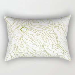 Secret places III - handmade green map Rectangular Pillow