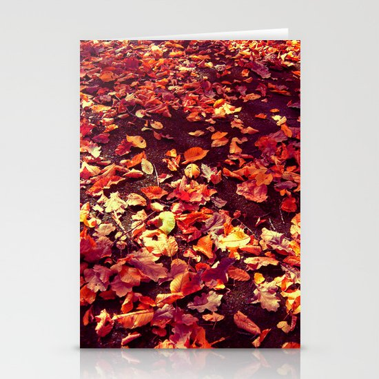 autumn path abstract I Stationery Cards