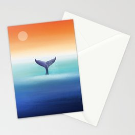 Whale in the Ocean Stationery Cards
