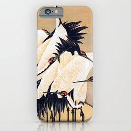 Ito Jakuchu - cranes - Digital Remastered Edition iPhone Case