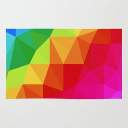 Rainbow Low Poly Rug
