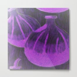 Purple and black passionfruit Metal Print
