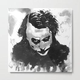 The joker in B&W Metal Print