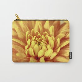 Chrysanthemum Macro Carry-All Pouch