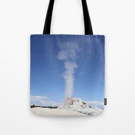 White Dome Eruption Tote Bag