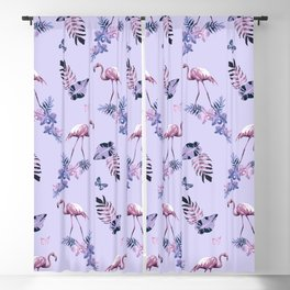Lilac Flamingo Toille Blackout Curtain