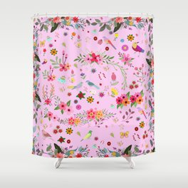 Say I love you with flowers Shower Curtain