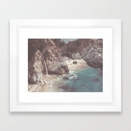 McWay Falls Big Sur California Framed Art Print