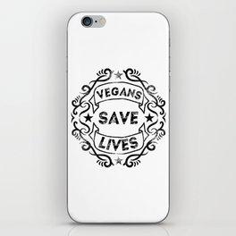Vegans Save Lives iPhone Skin