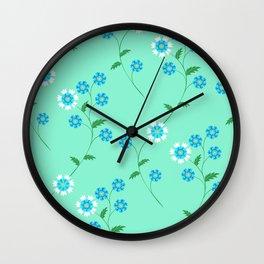 Knapweed, centaury, centory flowers Wall Clock