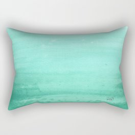 Ombre Robins Egg Rectangular Pillow