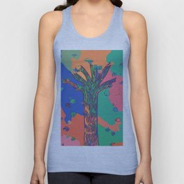 Colorful First Sprint Blossoms Unisex Tank Top