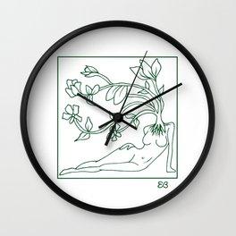 At Dawn We Grow, Green Wall Clock