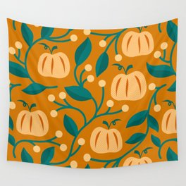 Pumpkin Botanical Wall Tapestry